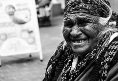 Grandma gypsy (AlphaAndi) Tags: monochrome menschen menschenbilder mono leute people personen portrait urban city closeup trier tiere sony streetshots schwarzweis street streets streetportrait sw blackandwhite blackwhite bw bokeh bokehlicious bettler beggar