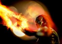Iron Man vs The Dragon (evanffitzer) Tags: comic ironman macro 100mm canoneos60d indoors superhero dragon flames fire light comics comp block scifi miniature composite burn