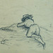 COURBET Gustave - Vache, Paysages et Bateau à Vapeur, Etudes (drawing, dessin, disegno-Louvre RF29234.5) - Detail 46