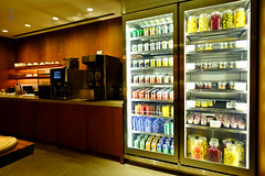 Beverage fridge (A. Wee) Tags: cathaypacific thepier firstclass airport lounge hkg hongkong 国泰航空 香港 机场 中国 china