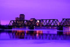 Dusk. (Photolove2017) Tags: bridge ottawagatineau ottawariver ontario nikondx interprovincial hull canada chaudier citylights colors tiaphoto layers d3100 dusk