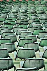 Breaking Rhythm (nagyistvan8) Tags: nagyistván budapest magyarország magyar hungary nagyistvan8 absztrakt abstract tárgy object ritmustörő breakingrhythm székek chairs stadion műanyag színek colors zöld green fehér white barna brown fekete black háttérkép background ngc special extreme pattern alakzat formation 2017 nikon