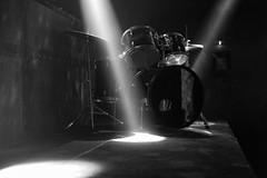 Before the Set (in Explore, 5/17/17) (ROSS HONG KONG) Tags: drum drums lights shadows bar set beams light austin texas leica monochrom monochrome blanc noir black white bw blackandwhite explore explored
