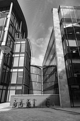 Architecture West End EPMG  (4 of 20) (Philip Gillespie) Tags: architecture edinburgh scotland mono buildings city sky spring form shape angles reflections clouds modern