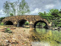 Clear Creek Monastery Bridge (clarkcg photography) Tags: bridge clearcreek lostcity oklahoma clearcreekmonastery rock oldworld vines arch flickrfriday threearches 3arches
