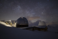 observatory in high mountain (marclelièvre) Tags: sky stars observatory queyras saint veran chateaurenard