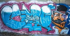 Collab Imp / S+P (PhotonLab) Tags: graffiti collaboration art streets streetart urban urbanart imp revenge artist urbancalligraphy spraypaint mtn mtn94 godisnotreal 666 imp666 femalegraffitiartist bomb throwup tagg tagger wildstyle montana e emc2 relativity einstein