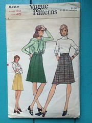 Vogue 8468 (kittee) Tags: kittee sewing vintagesewing pattern vintagepattern vogue 8468 vogue8468 knits waist30 hip40 flyzipper skirt gored aline pockets wouldsell wouldtrade nodate 1970s