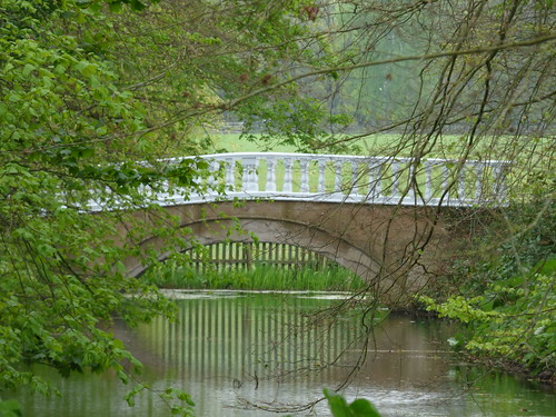 Gardens at Arbury Hall - bridge over a canal