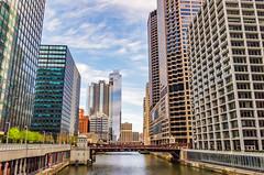 Monroe Street Bridge, Chicago IL (pattyg24) Tags: chicago illinois river bridge cityscape skyscraper water windows