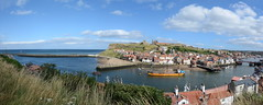 Panoramic Whitby, North Yorkshire (Andy bradders) Tags: whitby northyorkshire seaside goth yorkshirecoast coast sea whiterose lighthouse abbey uk dracula town eastcoast england dayout upnorth nikon d7100 coastal pier swingbridge rnli church beach panoramic seaview clouds harbour ship boat cliffs bluesky blue summer sandybeach fishing esk riveresk lowtide bandstand tourist northerntown summerholiday waterfront godscounty seawall yorkshire bestfishchips jet whitbyjet captaincook james famous benedictineabbey bramstoker englishheritage eastcliff bestfish