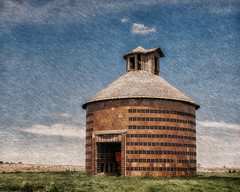 Scatchy Sky (David DeCamp) Tags: rural old farm barn building history sky rustic field landscape