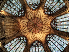 Ceiling of the Chapter House in York Minster Wide angle (neilalderney123) Tags: ©2017neilhoward ceiling your fishie samyang minster chapterhouse architecture