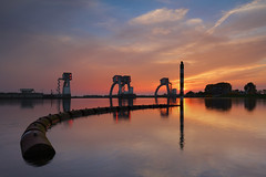 Waterkracht (zsnajorrah) Tags: nature rural industrial landscape trees water river reflection hydroelectricenergy powerplant evening sky clouds sunset silhouette breakthroughphotography x4nd3 7dmarkii ef1635mmf4l netherlands maurik nederrijn lowerrhine explore