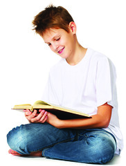boy reading the book (kaannc7) Tags: tween boy reading book isolated joy fun one child person education caucasian people study childhood homework white young male kid looking learning concentration student teenager literature teen cute sitting casual happy portrait youth smiling schoolchild human leisure textbook enjoying relaxation holding expression concentrate knowledge grin joyful