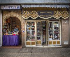 """Tiendecitas"". ""Small Shops"" (Capuchinox) Tags: sevilla seville spain españa shop tienda andalucia andalusia plaza square hdr dodgeburn olympus puertas calle street artesano artesania handicrafts"