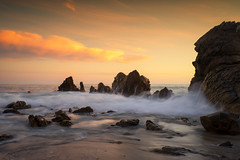 Another California Sunset (Roving Vagabond) Tags: sunset coronadelmar ocean waves longexposure rock sea seaside seascape landscape clouds explore socal california usa ca pacific