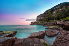 Sea Cliff Bridge (leonsidik.com) Tags: leon sidik fujifilm landscape sea cliff bridge sunset 2017 water long exposure newsouthwales nsw sydney wollongong rocks wave ocean