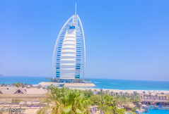 Burj Al Arab in Dubai - Another angle (MrSaha) Tags: burj al arab dubai nikon d52000 dslr panaromic tall wide nature landscape manual earth top bright dim shadow light around view look travel happy life lively adventure globe world lonely peace peaceful calm quiet moment sharp clear soft beautiful capture red blue green color colors vivid vibrant legend day sun sunny sky tree leaves branches building architecture urban urbanite cityscape desert downtown landmark town busy lake water river pond reflection stream wet flow ocean
