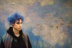 woman portrait streetphotography painting nympheas waterlilies muséedelorangerie