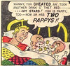 Two Pappys-1 (kevin63) Tags: lightner comicbook precode humor hillbilly woman men misogynist boxing potion sexchange blonde pappy madscientist internetarchive cartoon panels confusion photoshop edited babe old vintage retro antique transsexual transgender