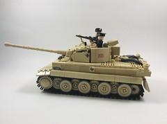 Tiger I (mjbricks(flose master)) Tags: lego tank tiger panzer german brickarms tan