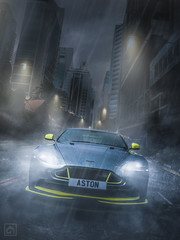Aston GT8 Singapore (kris greenwell) Tags: aston astonmartin astonworkshop automotive car colorgrading composite d7100 gt8 headlights krisgreenwellphotography moody nikon rain reflections road singapore sportscar streetlights supercar vantage vehicle