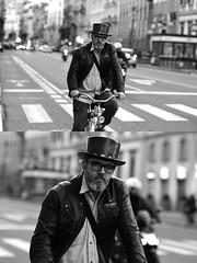 [La Mia Città][Pedala] (Urca) Tags: milano italia 2017 bicicletta pedalare ciclista ritrattostradale portrait dittico bike bicycle biancoenero blackandwhite bn bw 993132 nikondigitale scéta