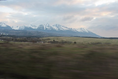 High Tatras seen from the train (Timon91) Tags: train trein vlak voz zug eisenbahn rail railway rails osobny ceske tren trem railroad railways bahnhof bahn gleis drahy české euronight en wagon slovakia zssk slovak slowakije slowakei slovenskárepublika slovensko spoor spoorweg spoorwegen station stanica stanice nadrazi hlavní mountain mountains bergen berg gora hore tatra vysoke tatry high hoge