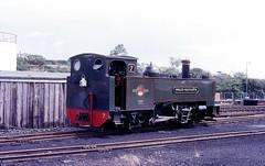 Owain Glyndwr  Aberystwyth  22.08.86 (w. + h. brutzer) Tags: aberystwyth webru eisenbahn eisenbahnen train trains england dampflok dampfloks steam lokomotive locomotive analog nikon railway