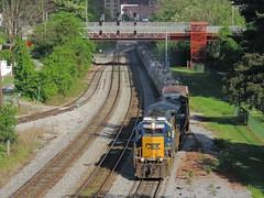 CSX 8335 and 3408 (Trains & Trails) Tags: emd sd402 standardcab yn3 darkfuture connellsville csx pennsylvania fayettecounty q31713 may springtime engine freight locomotive transportation diesel