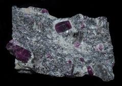 Corundum (Ruby var.)  (No. 2765-05152017) (geraldarmstrong48) Tags: ruby mysoredistrict mineralcollection mineral minerals specimen specimens stone stones rock rocks mineralogy geology earthscience crystal nature corundum