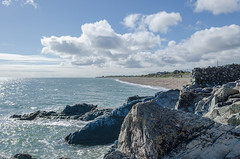 Greystones - DSC_0491 (John Hickey - fotosbyjohnh) Tags: 2017 april2017 greystones seascape seaside seashore irishsea cowicklow ireland clouds sky sea landscape