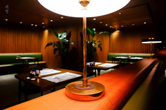 Lamps in the Dining Room (A. Wee) Tags: thepier firstclass airport lounge hkg hongkong 国泰航空 香港 机场 中国 china cathaypacific restaurant 餐厅