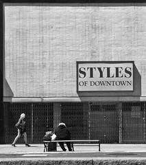 Styles of Downtown (Rob Scumaci) Tags: buffalo bw blackwhite iphone iphoneography