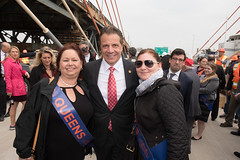 Governor Cuomo celebrates the grand opening of the first span of the Kosciuszko Bridge – the first new bridge constructed in New York City in more than 50 years. (governorandrewcuomo) Tags: governorandrewcuomo bridge infrastructure construction grandopening newyorkcity ny usa