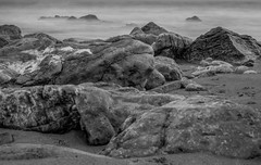 Rocky Beach (nafenic) Tags: canon 760d yongnuo 50mm18 beach seascape blackandwhite monochrome lightroom barryisland southwales