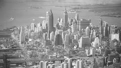 Manhattan aerial view, New York - July 6, 1951. (cobravictor) Tags: aerialview downtownmanhattan manhattan skyline skyscrapers vintage vintagenewyork oldpics oldtime 1951 50s island woolworthbuilding
