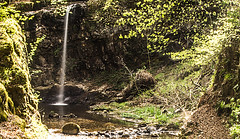A Shaft Of Light (Brian Travelling) Tags: dalcairnie dalcaernie dalcarnie dalcarney falls ayrshire east south southayrshire eastayrshire gorge woods forest gallowayforestpark bridge wooden waterfalls waterfall scotland scenery scenic