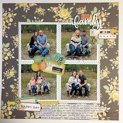 LOAD18 Our Family (girl231t) Tags: 2017 paper scrapbook layout 12x12layout load load517 load18 rsg rsg3 sketch4 sketchbased