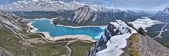 Panorama from Vision Quest Ridge (John Payzant) Tags: vision quest ridge hdr pamorama alberta canada north saskatchewan river ice