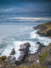 Cliffs at Stoer (Keith - Glasgow) Tags: assynt olympus scotland highlands e3 longexposure bigstopper landscapes autumn stoer seascapes lochinver unitedkingdom gb