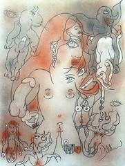 RECONSTRUIRE LA CONFIANCE (Claude Bolduc) Tags: artsingulier outsiderart visionaryart intuitiveart lowbrow teen artbrut teenspirit drawing