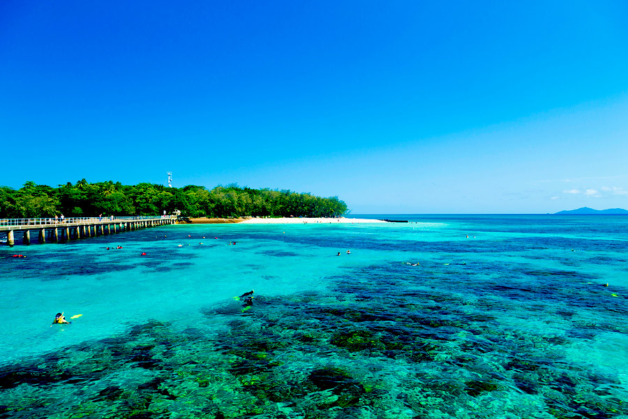 Green Island off the coast at Cairns is a snorkelers dream destination