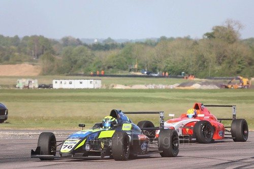 Linus Lundqvist in British Formula Four at Thruxton, May 2017
