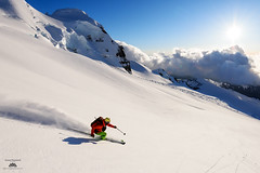 May Pow (Jason Hummel Photography) Tags: jas7261 mountbaker timblack skiing skier backcountryskiing colemandeming sunset alpenglow clouds mountbakerwilderness wilderness may 2017
