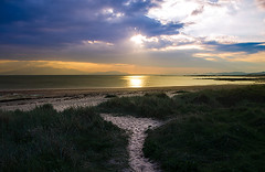 Golden Tranquility (Half A Century Of Photography) Tags: ayrshire northayrshire westkilbride sunset isleofarran arran sand dunes scenery scotland water landscape beach