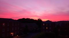 Sunset from my window :-) (vickireynolds2311) Tags: 日没 ビル 赤い