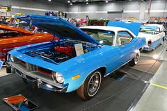 1973 Plymouth 340 cuda (bballchico) Tags: 1973 plymouth barracuda cuda340 michaelhughes portlandroadstershow prs2017 carshow musclecar mopar