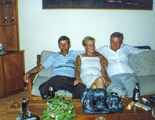 Billy, Betty and Ian Watt, Canada 1980